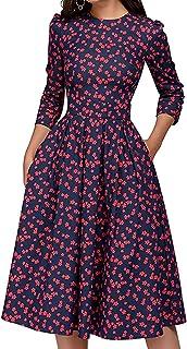 Cóctel Floral para Mujer de los años 50 Vestidos Retro