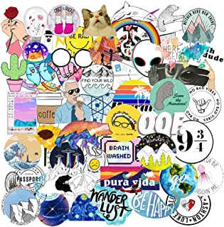Cute Stickers(50Pcs),Laptop and Water Bottle Decal Sticker Pack for Teens, Girls, Women Vinyl Stickers Waterproof