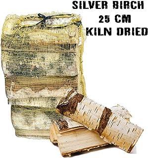Red de madera dura seca al horno de abedul, 25 l, 18% de