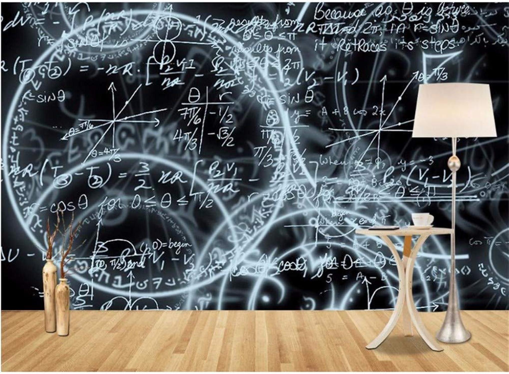 servicio de primera clase Weaeo Sencillos Y Abstractos Murales De Papel Papel Papel Tapiz 3D Pizarra Matemática Estereoscópica No Tejida Sala De Estar Fondo Papel Tapiz De Alta Definición-200X140Cm  comprar descuentos