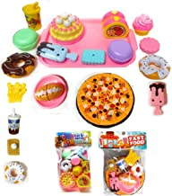 HALO NATION Big Party Sliceable Cutting Fast Food Kitchen Set Toy with Pizza, Burger, Cake, Donuts & More McDonalds Restur...
