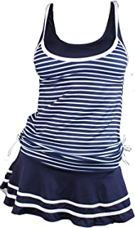 Women's Tankini Striped Vintage Swim Dress