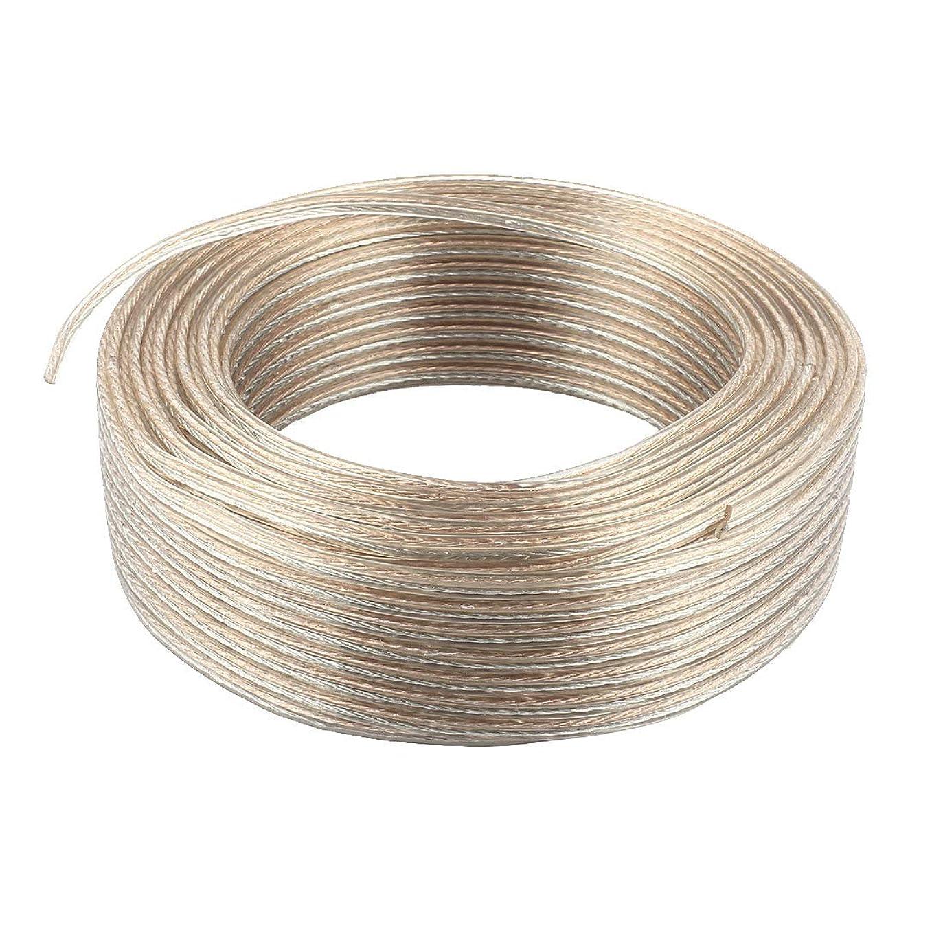 ラダキウイ節約するAUTUT カーオーディオスピーカーケーブル 長さ50m OFC 無酸素銅
