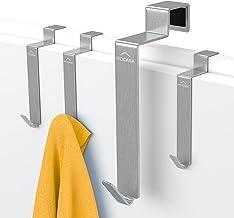 MDCASA Deurhaken voor achterdeuren in verschillende kleuren - 4 stuks - Kleerhanger boven de deur - Handdoekdroger - Kleer...