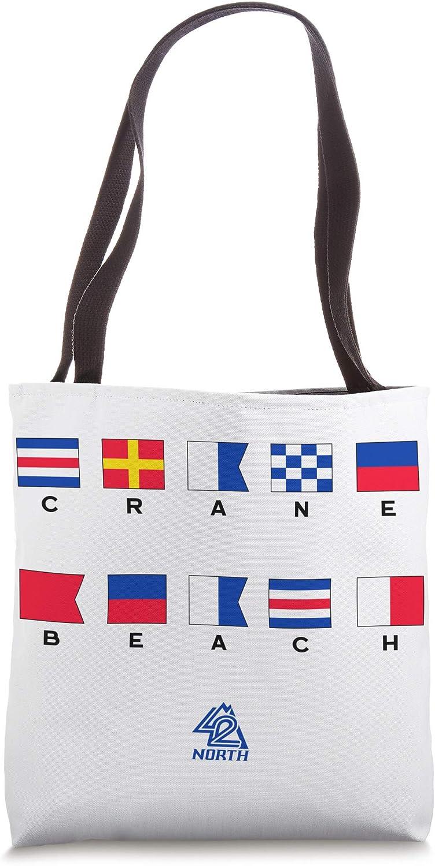 42 NORTH Crane's Beach Nautical Tote Bag