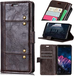 Protect Leather Phone Phone case for Huawei mate20 Phone Holder Card Slot Flip Phone case Luxury Wallet Pu Fashion (Color : Brown)