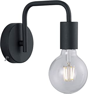 Trio Leuchten Diallo lampa ścienna, metal, czarna matowa