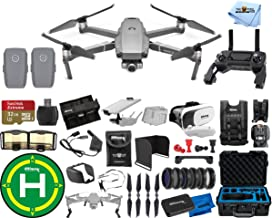 $1599 » DJI Mavic 2 Zoom 2 Battery (Total) MEGA Accessory Bundle with Waterproof Case, Drone Vest, 32GB Micro SD, VR Goggles, Charging Hub, Filter Kit, Landing Pad + Much More