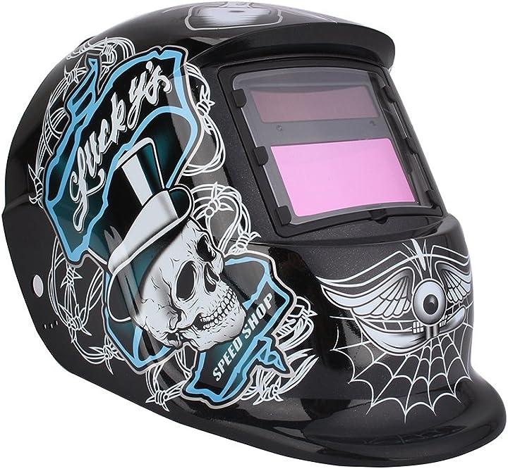 Maschera per saldatura a energia solare, automatico, colori variabili, din9-13, oscuramento automatico B07W6S832R