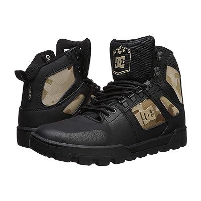DC Pure High-Top WR Boot (Black Camo) Men