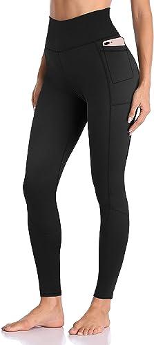 Femmes Leggings de Yoga Taille Haute pour avec Poche Ventre Controle Gym Course Sports Collants Pantalon
