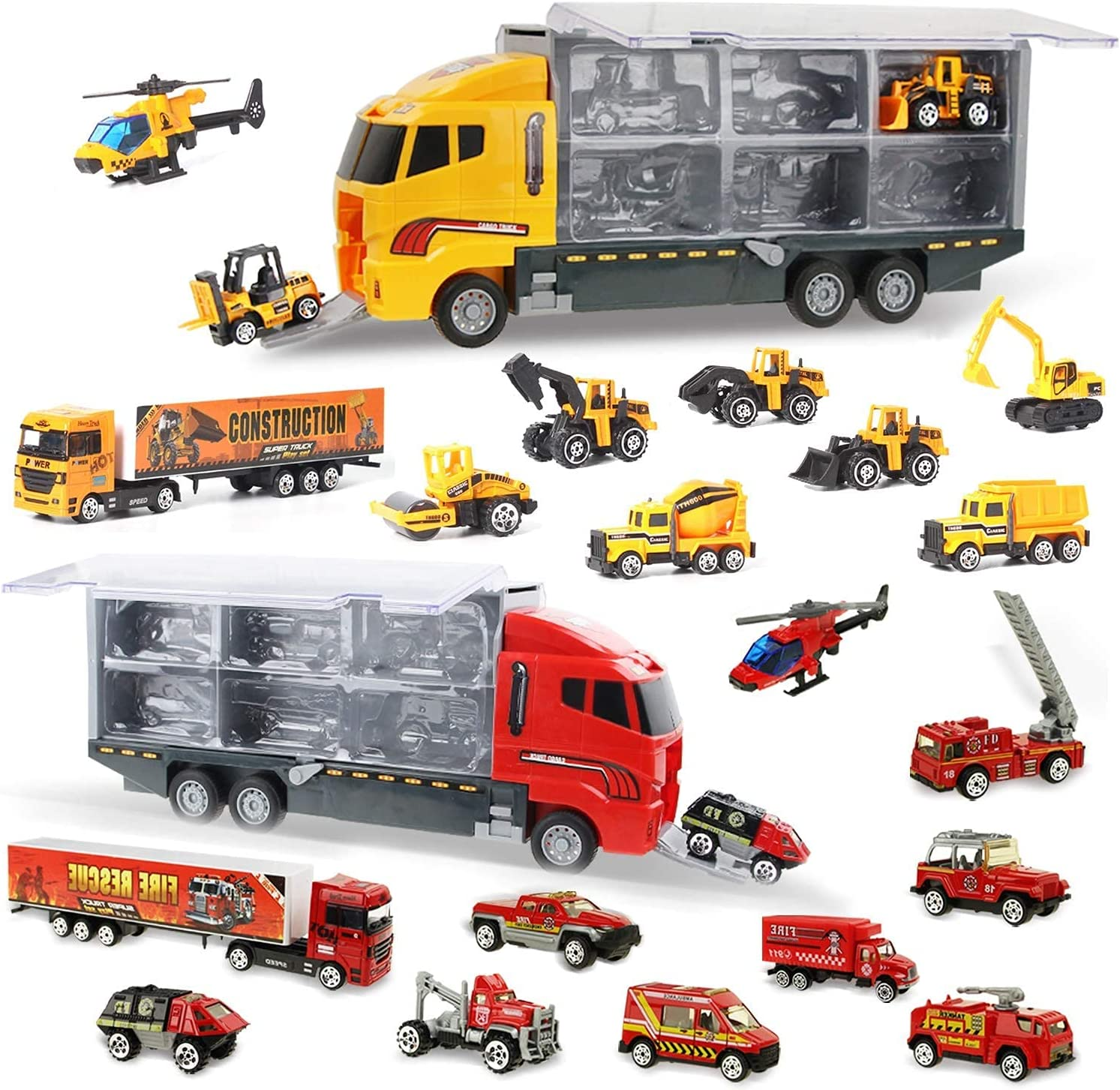 Miami Mall Coolplay Ranking TOP5 Construction Vehicles and Fire Carrier Rescue Set Truck