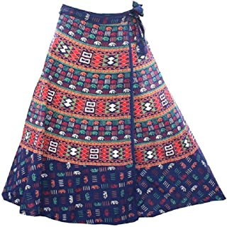 Wrap Around Long Skirt Women 100% Cotton Jaipuri Printed