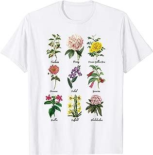Flower Plant Nature Vintage Rose Floral Flower T Shirt