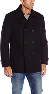 IZOD Men's Double Breasted Wool Peacoat
