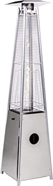 Legacy Heating Quartz Galss Tube Patio Heater, Visual Flame Heater 40000BTU (Stainless Steel)