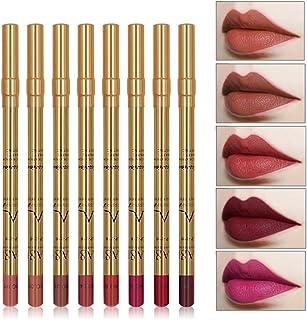 Ruier-tong リップライナー 8色リップペンシル セット 優れる発色力 艶消し口紅筆 リップスティック 防水 長持ち 唇用美容ペン