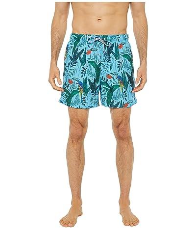 Ted Baker Borrla Parrot Print Swim Shorts (Light Blue) Men