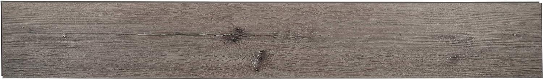 M S International AMZ-LVT-0039-SAM 7 inch x 12 inch Luxury Vinyl Planks LVT Tile Click Floating Floor Waterproof Rigid Core Wood Grain Finish Sample Prescott Braly Red