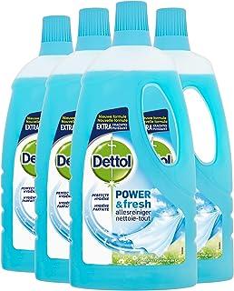 Dettol Power en Fresh Allesreiniger Katoenfris 4 x 1 Liter Grootverpakking