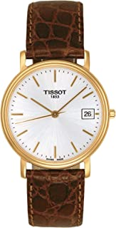Tissot T-Trend Desire Leather Strap Brushed Silver Dial Men's watch T52.5.411.31