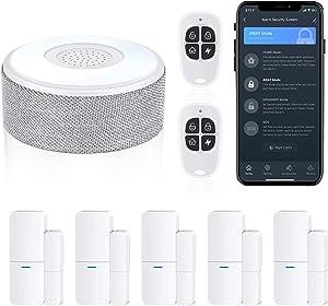 WiFi Door Alarm System, Wireless DIY Smart Home Security System, with Phone APP Alert, 8 Pieces-Kit (Alarm Siren, Door Window Sensor, Remote), Work with Alexa, for House, Apartment, Alpha by tolviviov