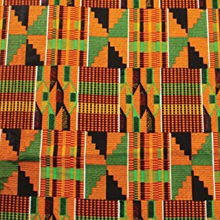 African kente fabric Fabric #7- One yard cotton 44