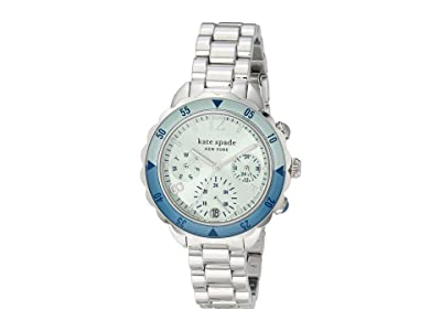 Kate Spade New York Baywater Chronograph Stainless Steel Watch (Silver Tone) Watches