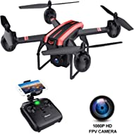 SANROCK X105W Drones with Camera for Adults 720P HD WiFi Real-time Video Feed. Long Flying Time...