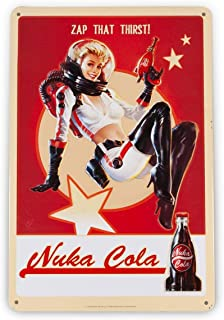 """Fallout 76 Nuka Cola Girl Metal Sign 