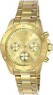 ساعة انفيكتا النسائية كواترز ستانلس ستيل كاجوال , اللون: ذهبي اللون (Model: 21731)
