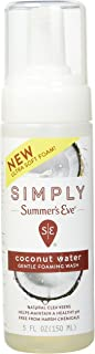 Summer's Eve Simply Gentle Foaming Wash | Coconut Water | 5 Ounce | Pack of 1 | pH Balanced, Free from Harsh Chemicals and Dyes