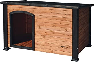 Precision Pet by Petmate Extreme Weather-Resistant Log Cabin Dog House with Adjustable Feet, 4