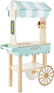 Le Toy Van Ice Cream & Treats Trolley Premium Wooden Toys for Kids Ages 3 Years & Up