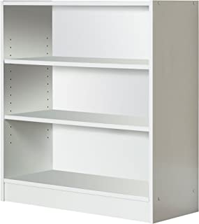 Mylex Three Shelf Bookcase; Two Adjustable Shelves; 11.63 x 29.63 x 31.63 Inches, White, Assembly Required