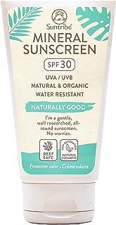 Crema Solar Mineral Cuerpo & Cara Suntribe - FPS 30 - Biodegradable - Òxido de Zinc (Filtro UV Mineral) - Resistente al ag...