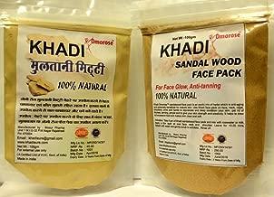 Khadi Sandalwood Face pack +Multani Mitti Combo, 100 gm Each