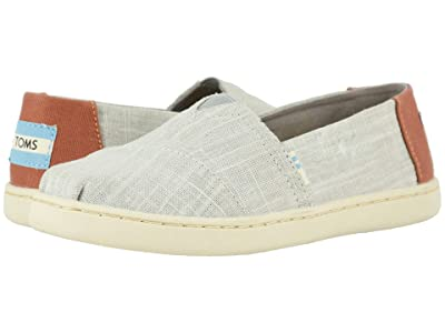 TOMS Kids Alpargata (Little Kid/Big Kid) (Drizzle Grey Crosshatch Linen) Boy
