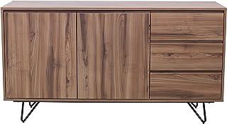 Marque Amazon - Rivet Buffet, 140x40x75cm, Finition noyer