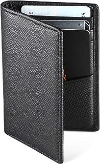 WeValley Porte Cartes de Crédit, RFID Blocage, Bifold Portefeuille Homme Cuir Véritable, Rangement Carte de Crédit et Billets