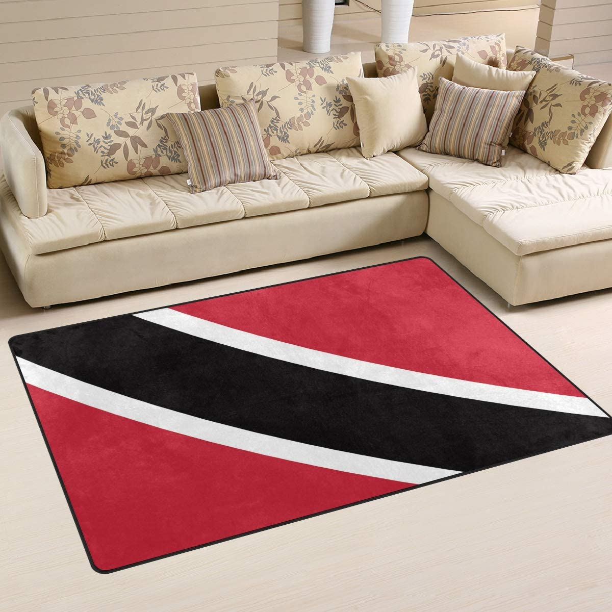 Ainans Flag of Trinidad and Minneapolis Mall Tobago Floo Area Carpet Max 49% OFF Non-Slip Rug