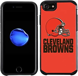 Prime Brands Group Cell Phone Case for Apple iPhone 8/ iPhone 7/ iPhone 6S/ iPhone 6 - NFL Licensed Cleveland Browns Textured Solid Color