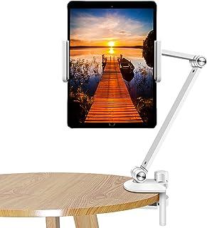 Tablet Stand Adjustable,ZEXMTE Desktop Tablet Holder Mount Foldable Phone Stand with 360° Swivel Phone Clamp Mount Holder,...