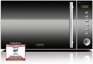 *CASO MG20Ceramic menu 2in1 – Design Mikrowelle & Grill, 20 Liter, größere Nutzfläche durch flachen Keramikboden, Garen auf zwei Ebenen, 800 Watt Mikrowelle, 1000 Watt Grill*