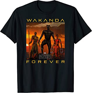 Marvel Black Panther Movie Wakanda Forever Graphic T-Shirt T-Shirt