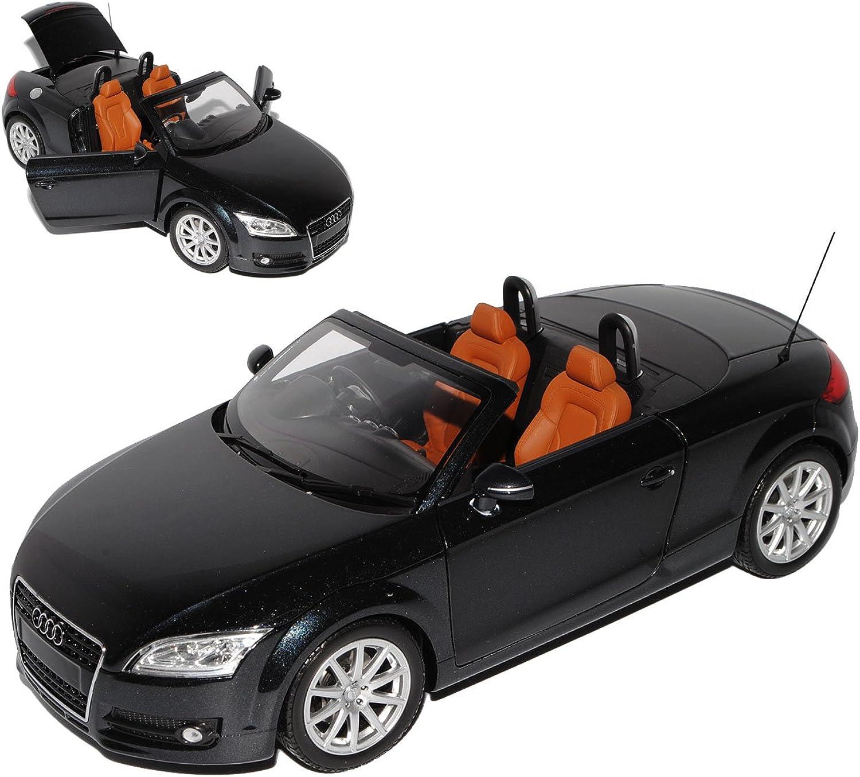 Minichamps Audi TT 8J Cabrio Schwarz 2. Generation 2006-2014 1 18 Modell Auto mit individiuellem Wunschkennzeichen B01MG3LNCC Vollständige Spezifikation    Feinen Qualität