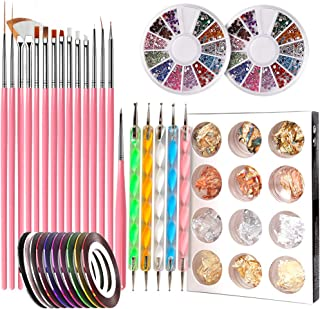 Nail Pen Designer, Teenitor Stamp Nail Art Tool with 15pcs Nail Painting Brushes, Nail..