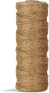 Natural Jute Twine Durable Industrial Packing Materials Heavy Duty Natural Brown Twine Jute Rope/String 328ft/100m for Art...