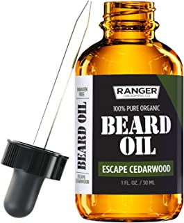 Escape Cedarwood Beard Oil & Leave in Conditioner, 100% Pure Natural Organic for Groomed Beards, Mustaches, and Moisturized Skin 1 oz by Ranger Grooming Co by Leven Rose