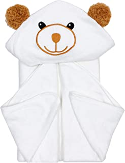 Bamboo Baby Bath Towel - Ultra Absorbent Soft Baby Hooded Towels for Infant and Toddler - Cute Design Keep Warm Newborn Towel -Baby Essentials Perfect for Boy and Girl-37.5 x 37.5''
